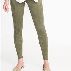 NWOT Old Navy Stevie Suede Olive Pull On Pants